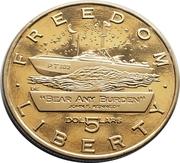 5 Dollars (JFK - Bear Any Burden) – revers