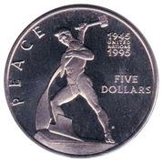 5 dollars (la Paix) – revers