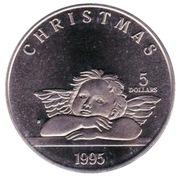 5 dollars (Noël) – revers