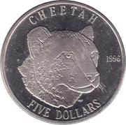 5 dollars (guépard) -  revers