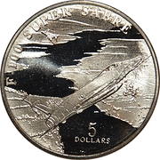 5 Dollars (F-100 Super Sabre) – revers