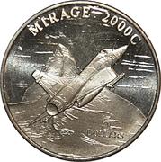 5 Dollars (Mirage 2000C Jet Fighter) – revers