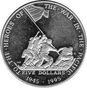 5 Dollars (Guerre du Pacifique) – revers