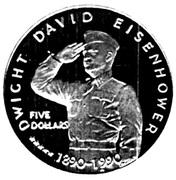 5 dollars (Dwight David Eisenhower) – revers