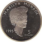 5 dollars (Marilyn Monroe) – revers