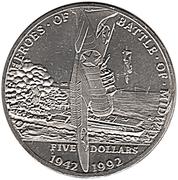 5 dollars (bataille de Midway) – revers