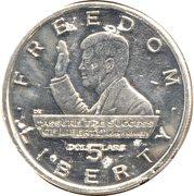 5 dollars Freedom Liberty – revers