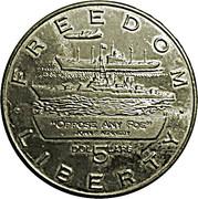 5 Dollars (John F. Kennedy; Oppose Any Foe) – revers