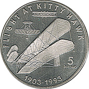 5 Dollars (Flight at Kitty Hawk) – revers