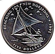 5 dollars (atteindre de nouveaux horizons) – revers