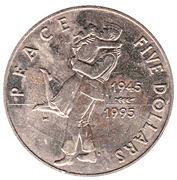 5 dollars (paix, victoire sur le Japon) – revers
