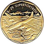10 dollars (B-29 Superfortress) -  revers
