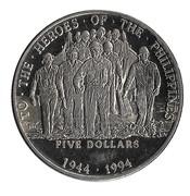 5 Dollars Heros of the Philippines – revers