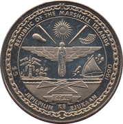 5 dollars (réunification allemande) – avers