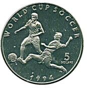 5 Dollars (World Cup Soccer) – revers