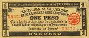 1 Peso (Masbate KKKK) – avers