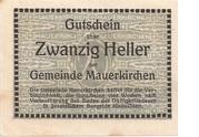 20 Heller (Mauerkirchen) -  revers