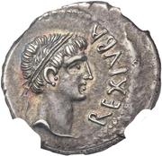 Denier - Juba II (Cléopâtre – avers