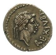 Denier Juba II et Cléopâtre Séléné – avers
