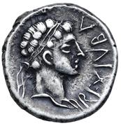 Denarius - Juba II and Cleopatra Selene (Caesarea) – avers