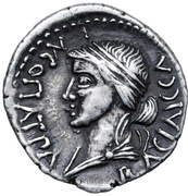 Denarius - Juba II and Cleopatra Selene (Caesarea) – revers
