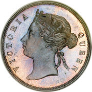 5 cents - Victoria – avers