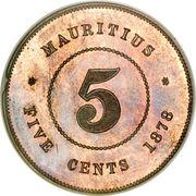 5 cents - Victoria – revers