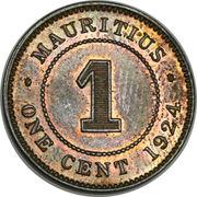 1 cent - George V – revers