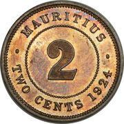 2 cents - George V – revers