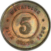 5 cents - George V – revers