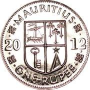1 roupie (magnétique) -  revers
