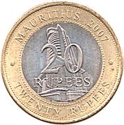 20 roupies Banque de l'Île Maurice -  revers