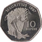 10 roupies (cupronickel) -  revers