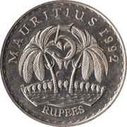 5 roupies (cupronickel) -  revers