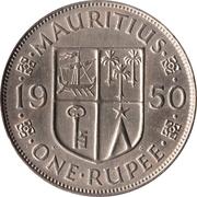 1 roupie -  revers