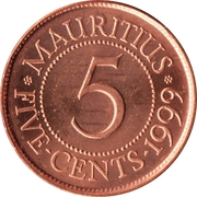 5 cents – revers