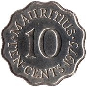 10 cents -  revers