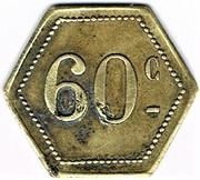 60 centimes Maxeville - (Maxéville (54) – revers