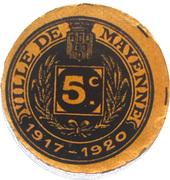 5 Centimes - Ville de Mayenne (53 ) – avers