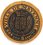 5 Centimes ( Mayenne ) – revers