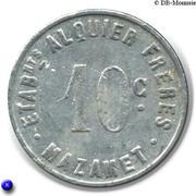 10 Centimes - Etablissements Alquier Frères - Mazamet [81] – revers
