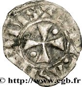 Obole - Bouchard (1120-1134) – revers