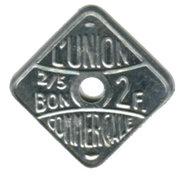 2 Francs (Bon pour) L'union Commerciale Meaux [77] – avers