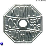 20 Centimes Bon pour L'union Commerciale - Meaux [77] – avers