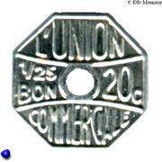 20 Centimes Bon pour L'union Commerciale - Meaux [77] – revers