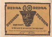 10 Pfennig (Rehna) – revers