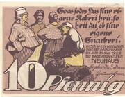 10 Pfennig (Neuhaus - Badeverwaltung) – revers