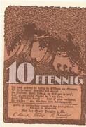 10 Pfennig (Penzlin) – revers