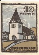 10 Pfennig (Schwaan) – avers