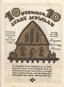 10 Pfennig (Schwaan) – revers